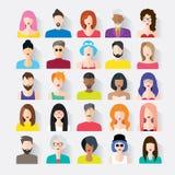 Big set of avatars Royalty Free Stock Image