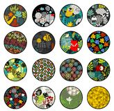 Big set of balls with print patterns. Royalty Free Stock Images
