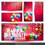 Big set - birthday banners Stock Image