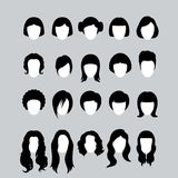 Hair Silhouettes Stock Images
