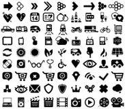 Big set of black universal web icons Royalty Free Stock Photography