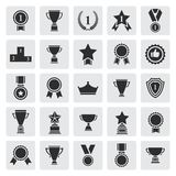 Big set of black vector award success and victory Stock Photography