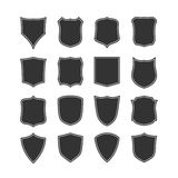Big set of blank, classic shields Stock Photography
