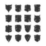 Big set of blank, grunge, classic shields Royalty Free Stock Photos