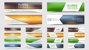 Big set of blurred banners Royalty Free Stock Photography