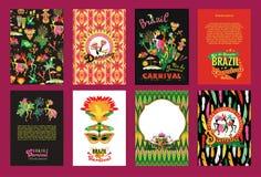 Big set of Brazil Carnival Backgrounds. Stock Images
