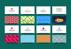 Big Set of Business Cards Templates Stock Images