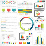 Big set of Business Infographic elements. Royalty Free Stock Photos