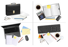 Big set of business and office backgrounds. Vector illustration Stock Images