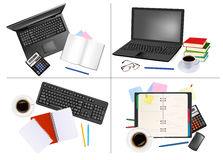 Big set of business and office backgrounds. Vector illustration Royalty Free Stock Image