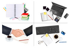 Big set of business and office backgrounds. Stock Image