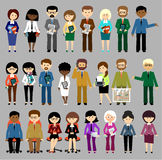 Big set of business people. Royalty Free Stock Photos