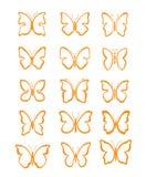 Big set butterfly Stock Photos