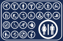 Big set buttons - 19_D. Pictographs of people Stock Photos