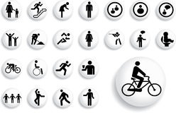 Big Set Buttons - 3_B. People Stock Image