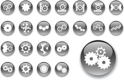 Big Set Buttons - 6_A. Gears Stock Photography