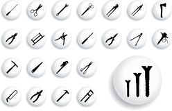 Big set buttons - 8_B. Tools Stock Image