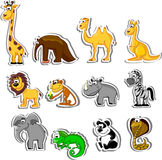 Big set of cartoon animals,vector Royalty Free Stock Photography