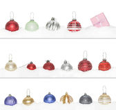 Big set of Christmas New Year bauble Royalty Free Stock Images