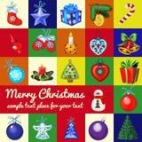 Big set of Christmas tree toys Royalty Free Stock Image