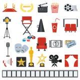 Big set of cinema icons Stock Photos