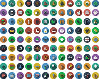 Big set of circle flat design icons Royalty Free Stock Photography