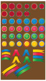 Big set of color glossy buttons. Collection of  elements Royalty Free Stock Images