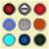 Big set of color glossy buttons. Stock Image