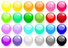 Big set of colored spheres Stock Photo
