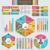 Big set of colorful business infographic elements. Royalty Free Stock Photography