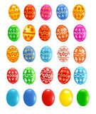 Big set with colorful Easter eggs. Vector Stock Photography