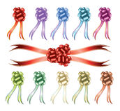 Big set of colorful gift bows Stock Photos