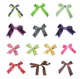 Big set of colorful gift bows Royalty Free Stock Image
