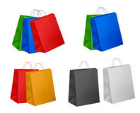 Big set of colorful shopping bags. Stock Images