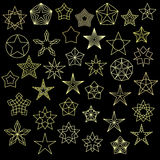Big Set of Colorful Star Icons Stock Photography