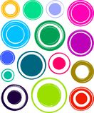 Big set of colorful very bright grunge templates for rubber stam. Ps Royalty Free Stock Photo
