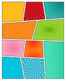 Big set of comic book backgrounds Royalty Free Stock Photography