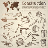 Big set of construction icons. Royalty Free Stock Images