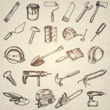 Big set of construction icons. Royalty Free Stock Photo