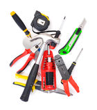 Big set of construction tools Royalty Free Stock Images