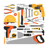 Big set of construction tools Stock Photography