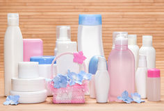 Big set of cosmetic products for skincare Stock Image