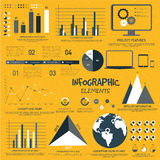 Big set of creative business infographic elements. Royalty Free Stock Photos
