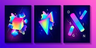 Big set of creative design posters Stock Photos