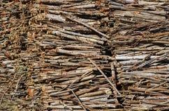 Big set of cut wood Royalty Free Stock Photo