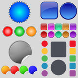 Big set of different colored buttons. Trendy, Stock Images