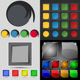 Big set of different colored buttons. Trendy, Royalty Free Stock Images
