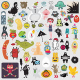Big set of different cute monsters #2. Stock Photography