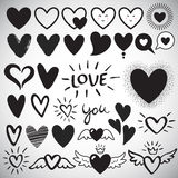 Big set of different design heart templates Royalty Free Stock Image