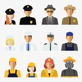 Big set of different professions Stock Images